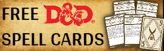 D&D Free Spell Cards Banner
