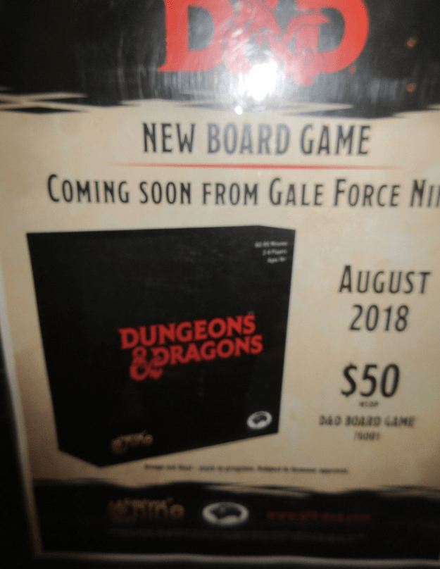 New D&D Board Game GF9
