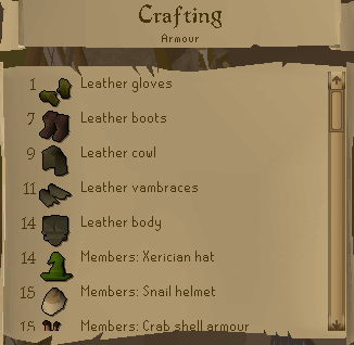 RS Crafting